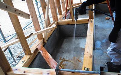 新築住宅のシロアリ予防施工