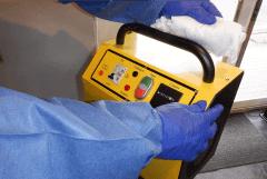 二次感染を防止するため器具の消毒の徹底