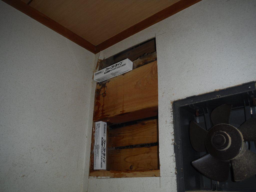 福岡市  壁面へベイト剤の設置