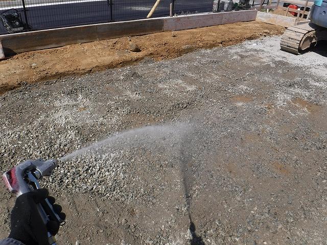 遠賀郡新築シロアリ予防消毒土壌処理2