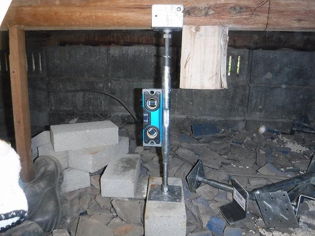 床下調査鋼製束設置