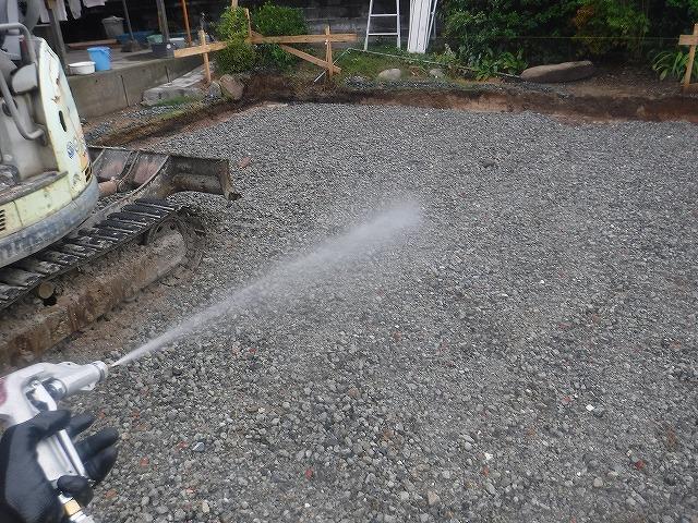 小郡市新築シロアリ予防消毒工事土壌処理3