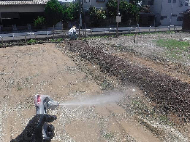 遠賀郡新築土壌のシロアリ予防消毒04